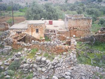 An Old house in the White Mountains of Crete