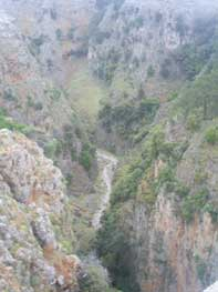 The deep Gorge of Aradena