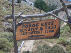 Sign at the Entrance of Imbros Gorge