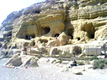 The famous caves in Matala