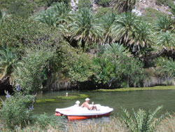 Small boat you can rent in Preveli