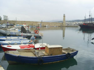 Boats in Rethymno Port