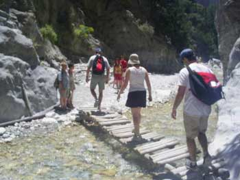 Hiking in the Samaria Gorge